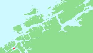 Locator map of Bergsøya, Møre og Romsdal, Norway