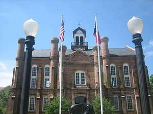 The historic Shelby County Courthouse in Cente...