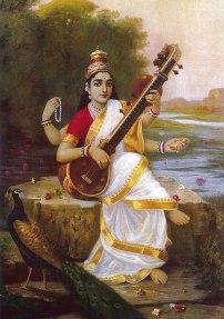 Dea Saraswat della musica indiana