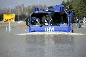The THW during a flood disaster