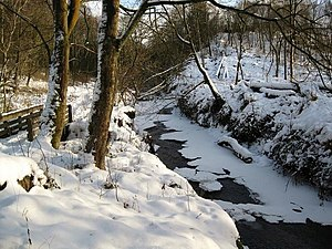 English: The Luggie In Midwinter