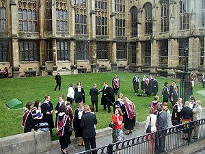 English: University graduation Successful stud...