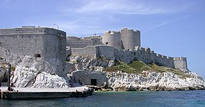 English: Marseille, Château d'If, as seen from...