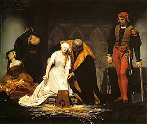 The execution of Lady Jane Grey in the Tower o...