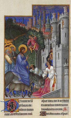 The entry of Jesus into Jerusalem on Palm Sund...