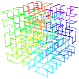Hilbert 3D curve, iteration 3