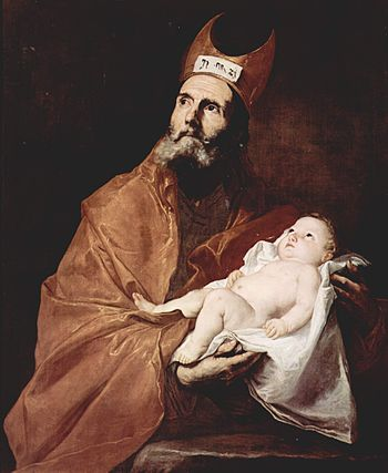 Saint Simeon with the Christ child.