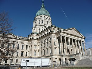 The State Capital building of Topeka, Kansas. ...