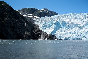 English: Aialik Glacier in the Kenai Fjords Na...