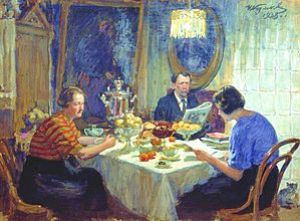 Kulikov Family at the table 1938