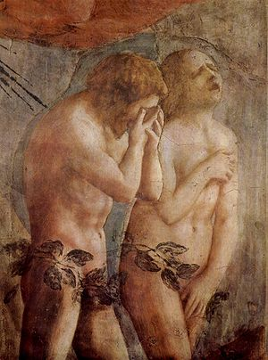 Masaccio, Brancacci Chapel, Adam and Eve, detail.