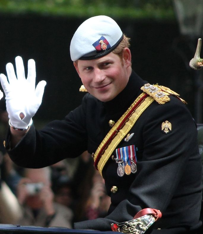 Prince Harry Trooping the Colour cropped