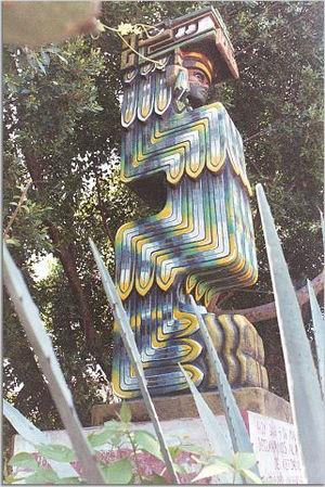 Quetzalcoatl statue