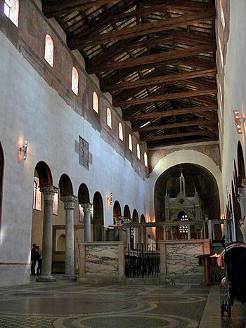 The interior of the Santa Maria in Cosmedin Church