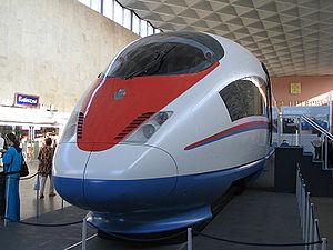 English: Siemens Velaro RUS (St.Petersburg, Mo...