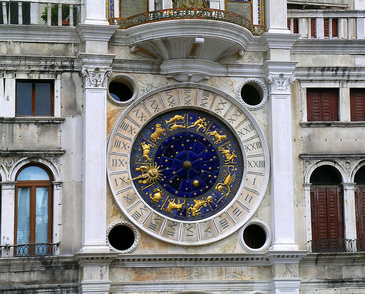 File:Venice clocktower in Piazza San Marco (torre dell'orologio) clockface.jpg