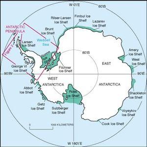 English: Antarctic Peninsula location within A...
