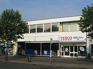 Tesco in St Peters Street, St Albans. Historic...