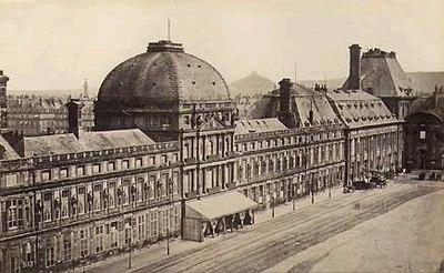 Le Palais des Tuileries vu du Louvre