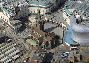 Bull Ring, Birmingham, England, featuring St M...