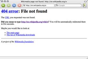 Deutsch: Bildschirmfoto eines 404-Fehlers bei ...
