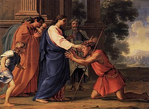 Eustache Le Sueur, Christ Healing the Blind Ma...