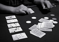 An image of a person playing the poker varient...