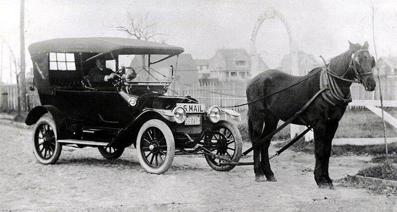 Horse before car