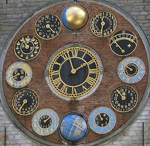 equation of time in minutes for sundials: - = ...