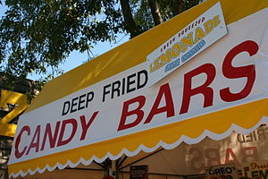 Deep Fried Candy Bar stand at the Minnesota St...