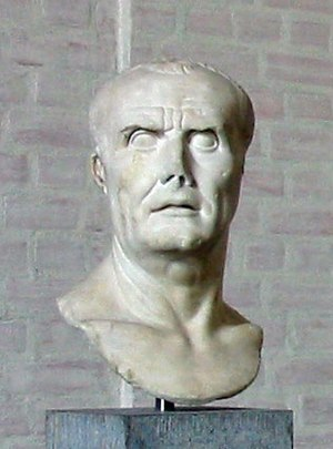 Bust of Gaius Marius in the Munich, Germany Gl...