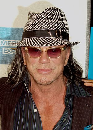 English: Mickey Rourke at the 2009 Tribeca Fil...