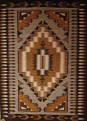 English: Navajo Rug Diné bizaad: Diyogí