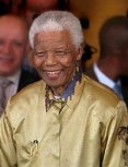 Nelson Mandela on his 90th birthday in Johannesburg, South Africa, in May 2008