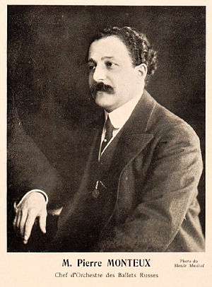 English: Pierre Monteux, conductor of the Ball...