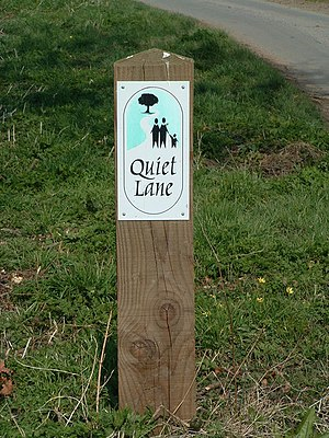 English: Quiet Lane Sign Quiet lane sign. For ...