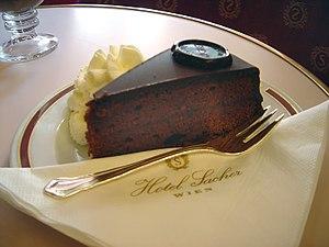 The original Sachertorte, as served at Vienna'...
