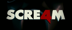 English: Logo of Scream 4 movie