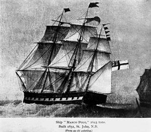 English: Marco Polo (ship) Built in 1851 in Sa...