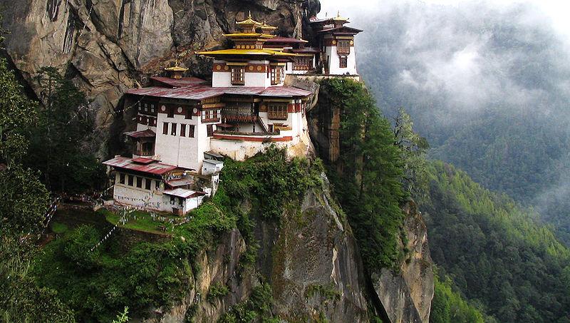 Monastère de Taktshang, vallée de Paro - Wikicommons