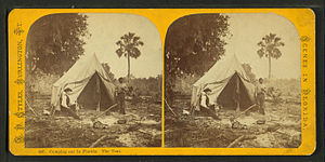 Camping out in Florida - The tent, by Styles, ...