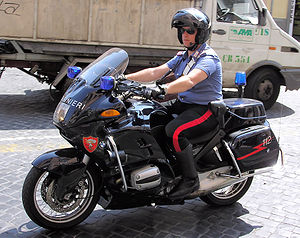 Motorcycle of the Italian Carabinieri