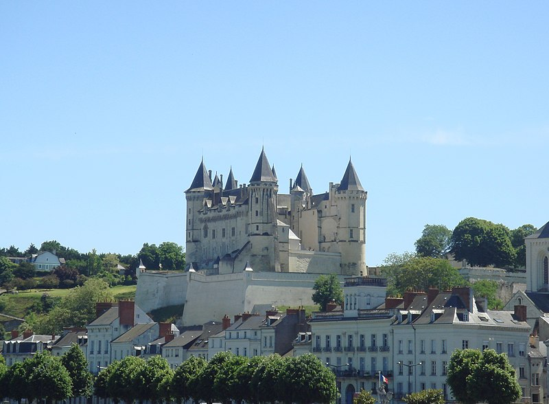 Castle of Saumur from the bridge