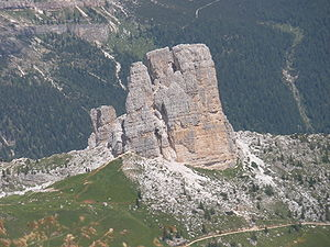 "The Cinque Torri (""Five Towers"") mou..."