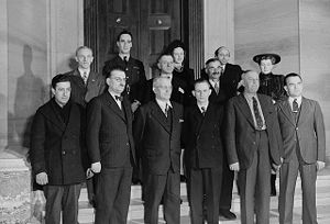 Members of the first official Canadian Citizen...
