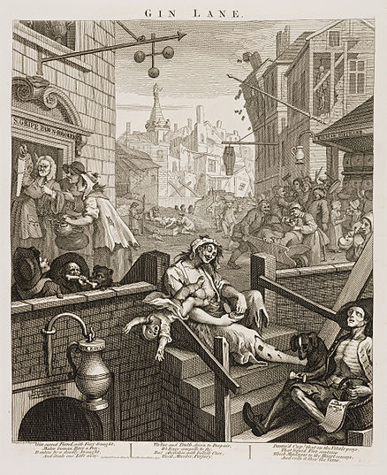 William Hogarth's Gin Lane (1751)