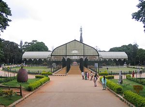 Glass house in Lalbagh, Bangalore, India