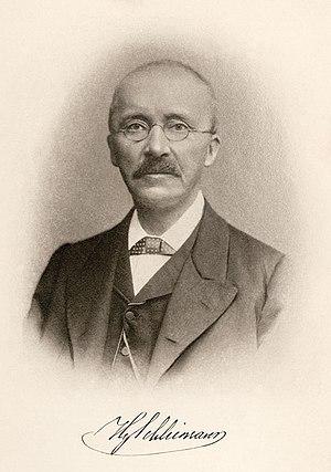 Treasure hunter Heinrich Schliemann.