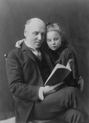 Howard Pyle and daughter Phoebe (Johnston)