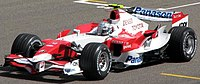 Jarno Trulli driving for Toyota at the 2007 Ba...